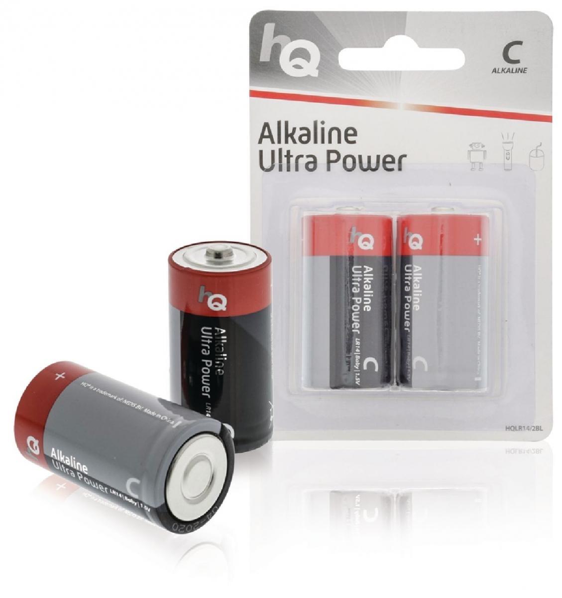Alkalické baterie HQ C 1,5 V, 2 kusy