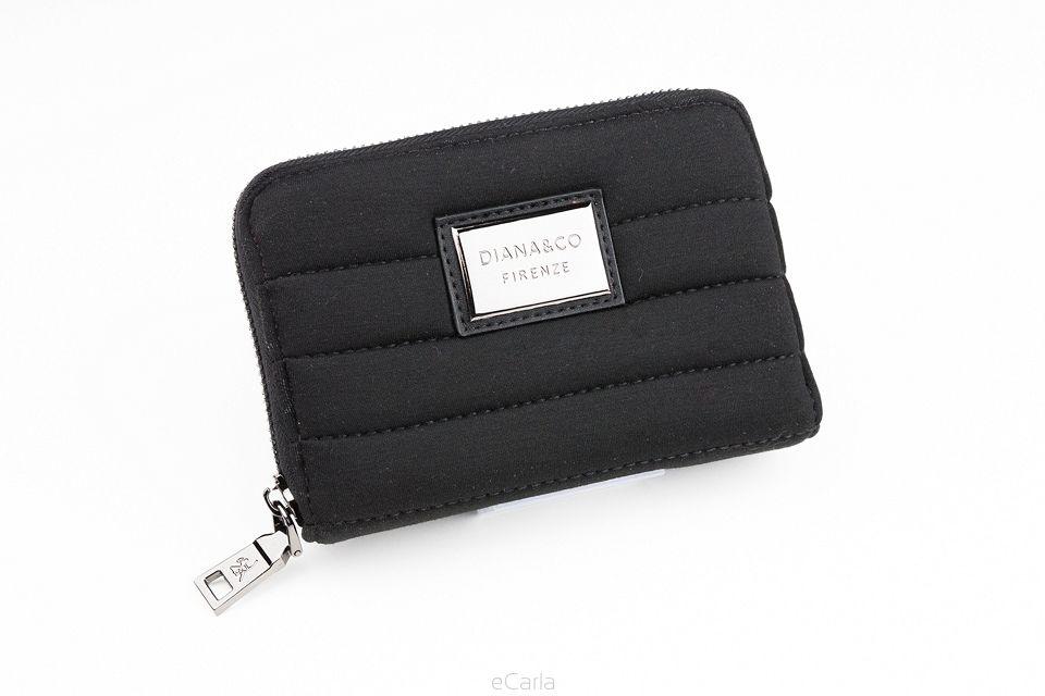 Diana&co dámská peněženka s prošitím - černá