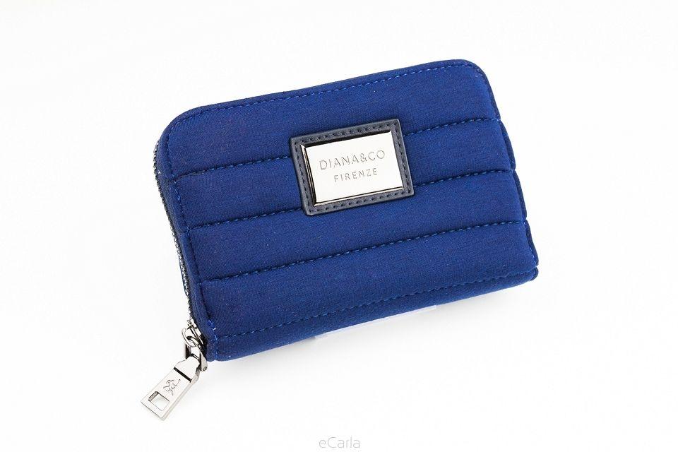 Diana&co dámská peněženka s prošitím - modrá