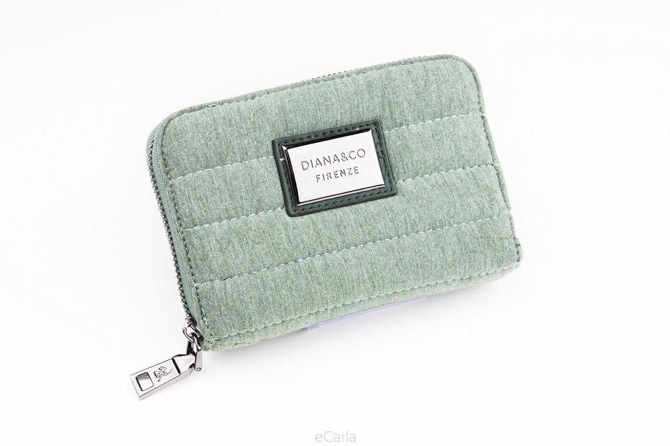 Diana&co dámská peněženka s prošitím - šedo-zelená