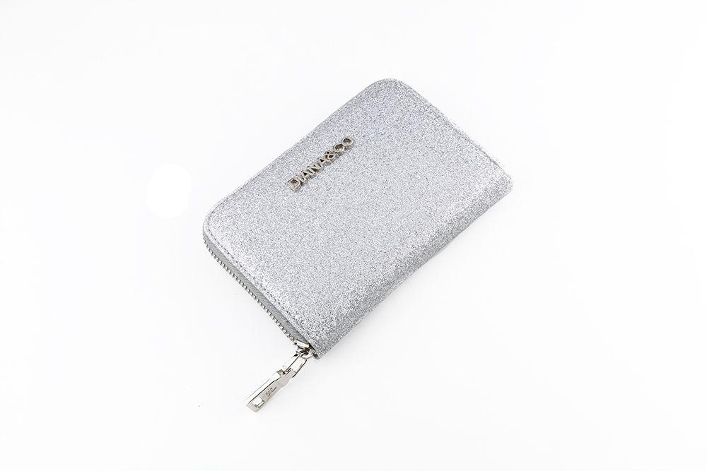 Diana&co dámská peněženka s flitry, stříbrná