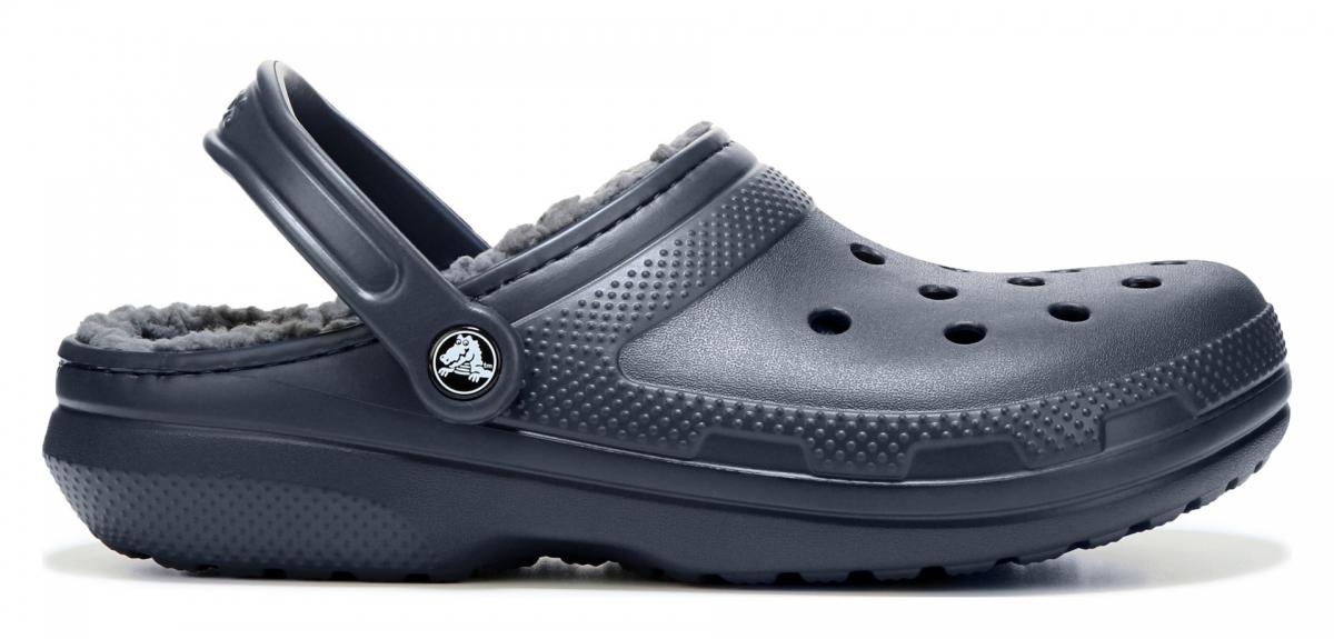 Crocs Classic Lined Clog - Navy/Charcoal, M5/W7 (37-38)