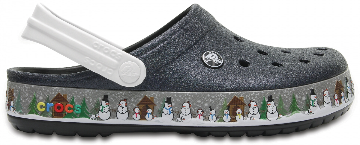 Crocs Crocband Holiday Clog - Black, M4/W6 (36-37)