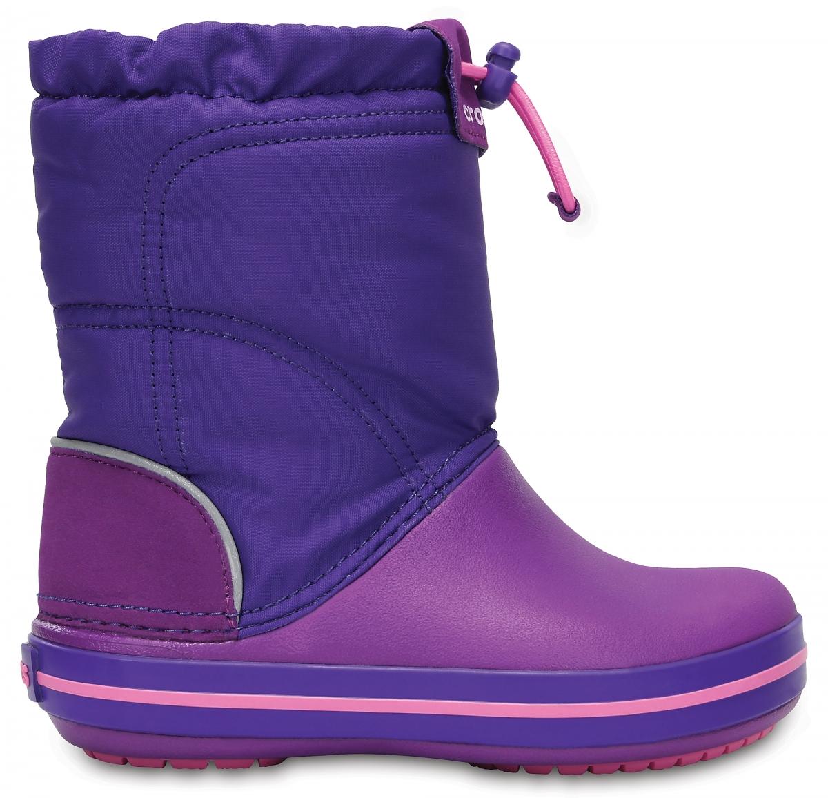 Crocs Crocband LodgePoint Boot Kids - Amethyst/Ultraviolet, C12 (29-30)