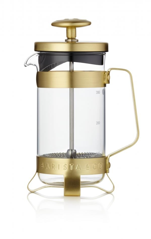 Barista & Co French press, 300 ml - Midnight Gold