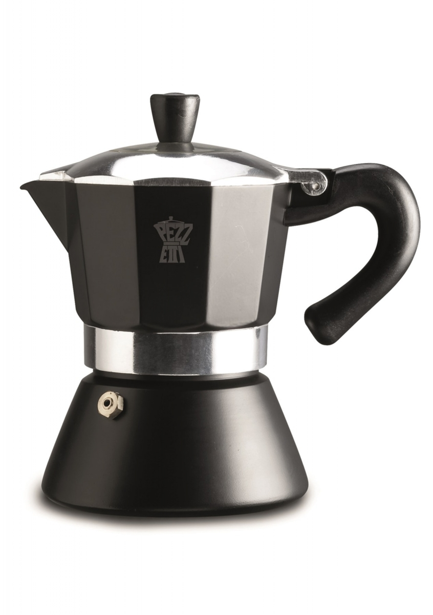 Pezzetti Bellexpress - hliníkový kávovar s okénkem, 3 šálky - černá