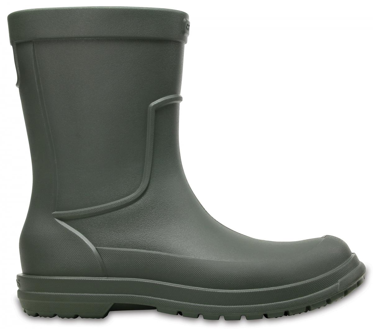 Crocs AllCast Rain Boot Men - Dusty Olive, M8 (41-42)