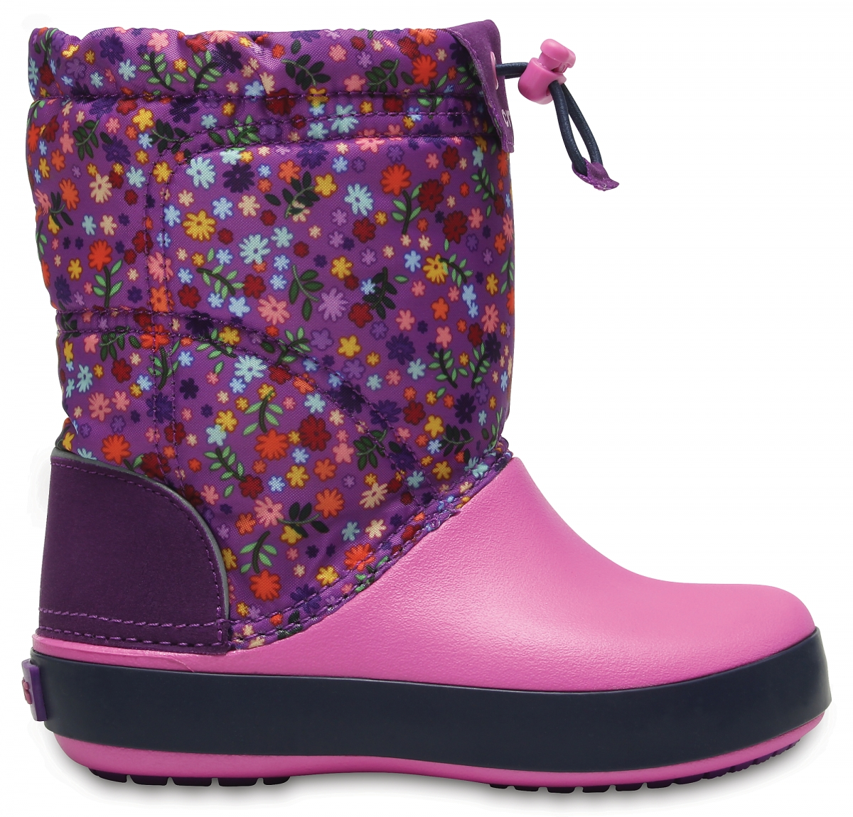 Crocs Crocband LodgePoint Graphic Boot Kids - Amethyst/Party Pink, C13 (30-31)