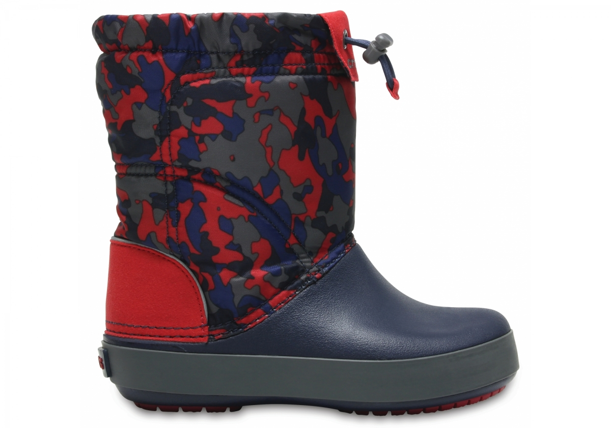 Crocs Crocband LodgePoint Graphic Boot Kids - Navy/Pepper, C13 (30-31)