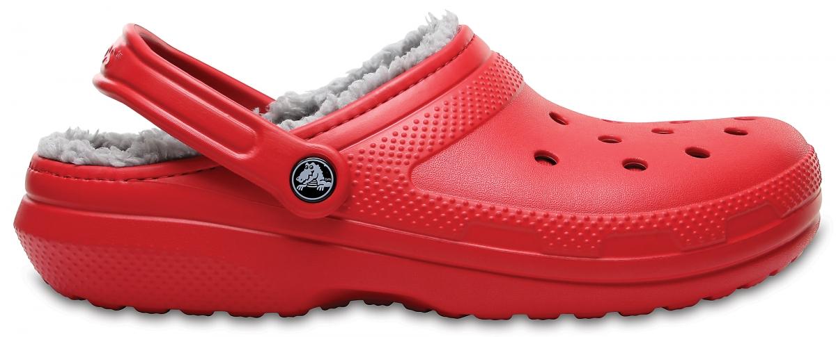 Crocs Classic Lined Clog - Pepper/Silver, M5/W7 (37-38)