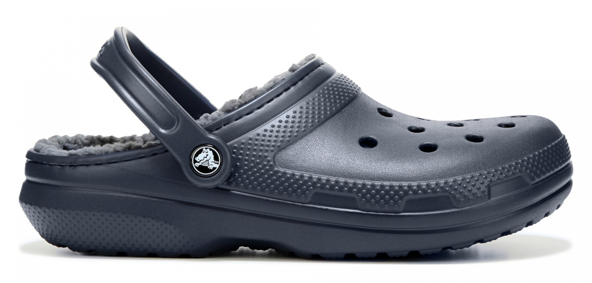 Crocs Classic Lined Clog - Navy/Charcoal, M4/W6 (36-37)