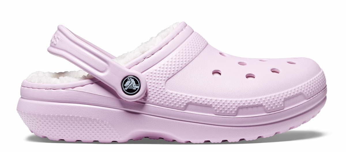 Crocs Classic Lined Clog - Ballerina Pink/Oatmeal, M4/W6 (36-37)