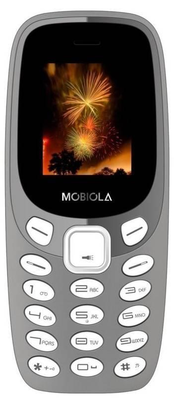 Trhák mobilní telefon Mobiola MB3000, šedý MB3000CZG