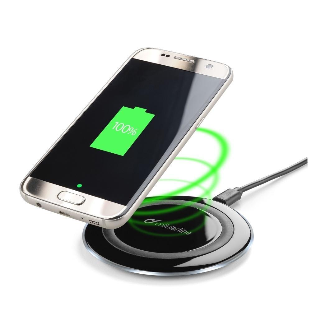 Bezdrátová nabíječka Cellularline WIRELESSPAD, Qi standard, černá WIRELESSPAD