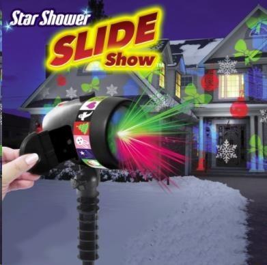 Laserová lampa Star Shower Slide Show - systém s pohyblivými světly M12796