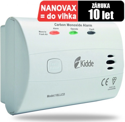 Detektor CO Kidde 10LLCO, odolný proti vlhkosti