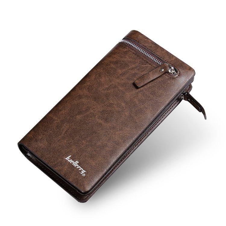 Peněženka s prostorem na mobil Baerllery PWM02, hnědá
