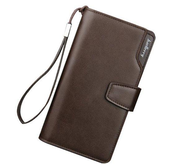 Peněženka s prostorem na mobil Baerllery PWM04, hnědá