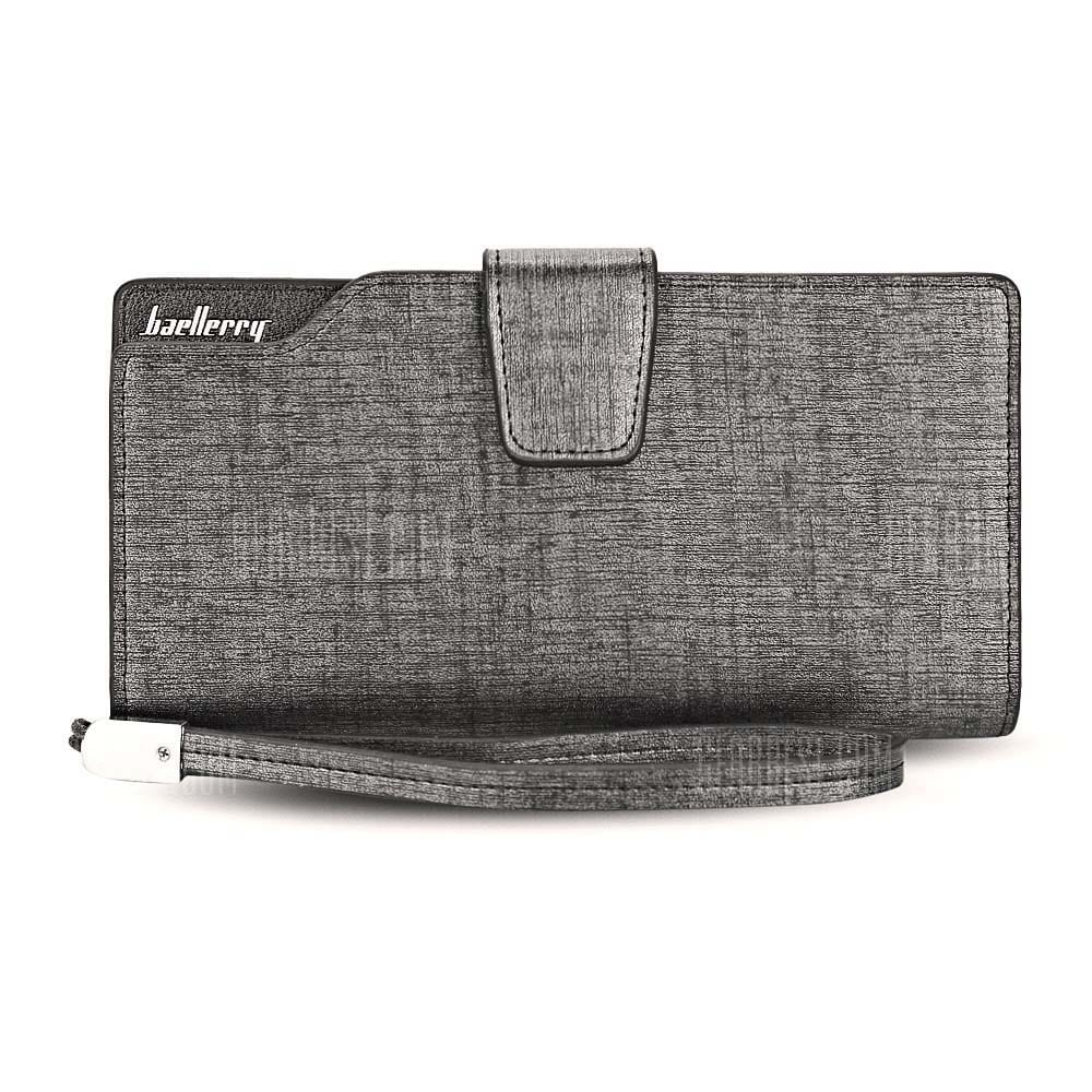 Peněženka s prostorem na mobil Baerllery PWM04, stříbrno-černá