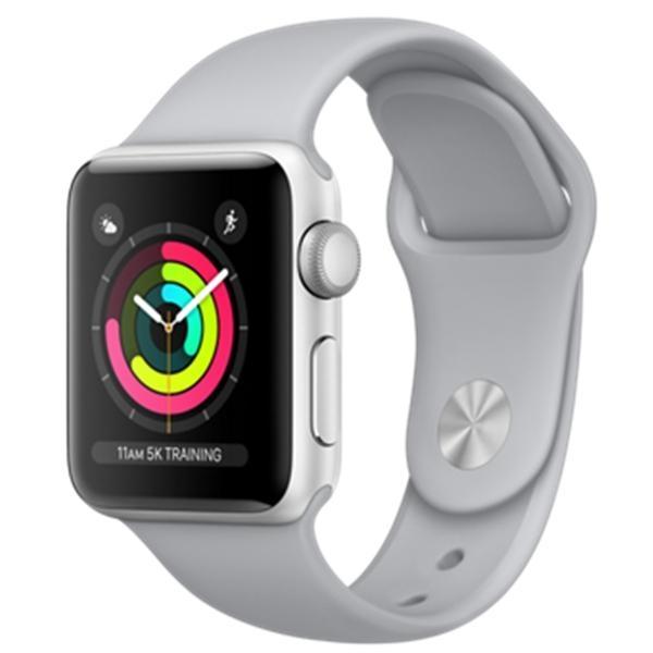 Apple Watch Series 3 38mm stříbrný hliník s mlhově šedým sportovním řemínkem (2017) MQKU2CN/A