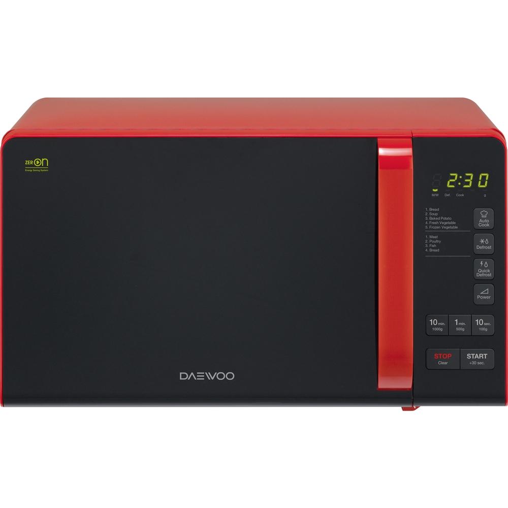 Digitální mikrovlnná trouba DAEWOO KQG 6S3BR MWO s grilem - červená