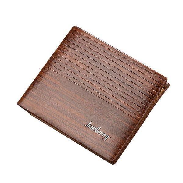 Pánská peněženka s dekórem dřeva Baerllery PWM08, hnědá