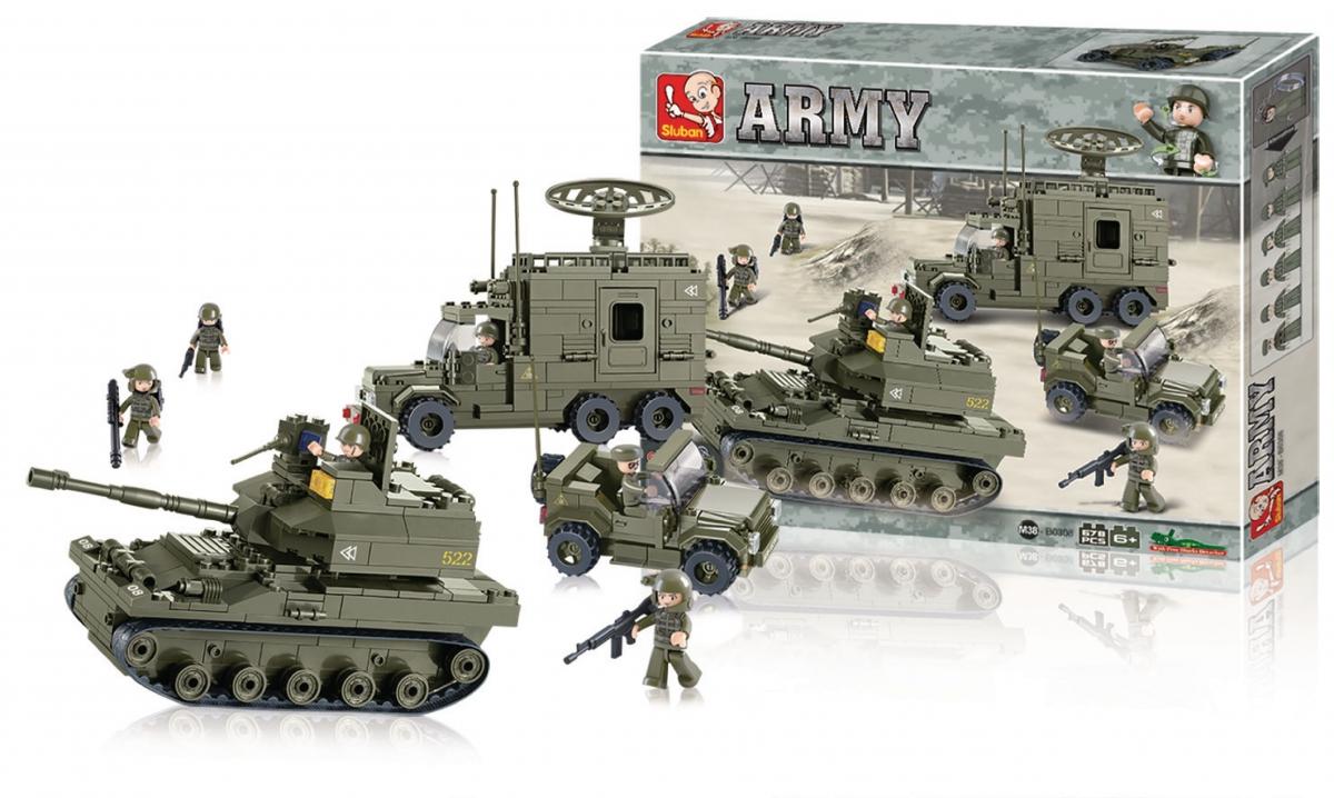 Stavebnicové kostky Sluban Army - elitní obrněná divize