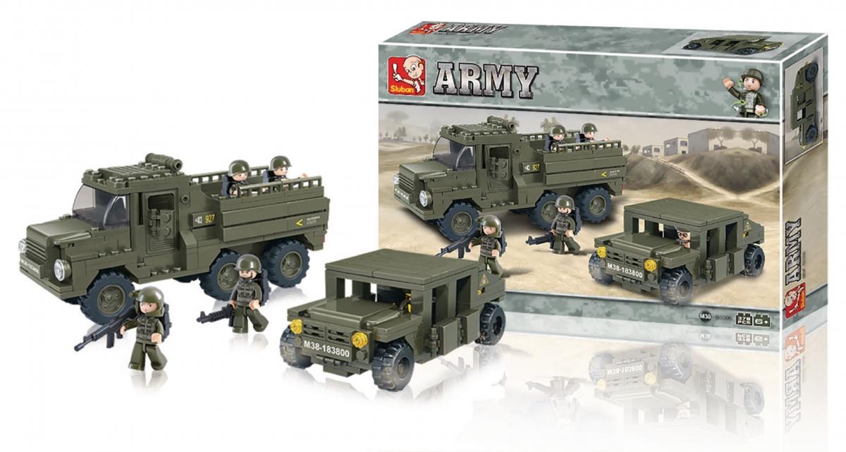 Stavebnicové kostky Sluban Army - zásobovací oddíly