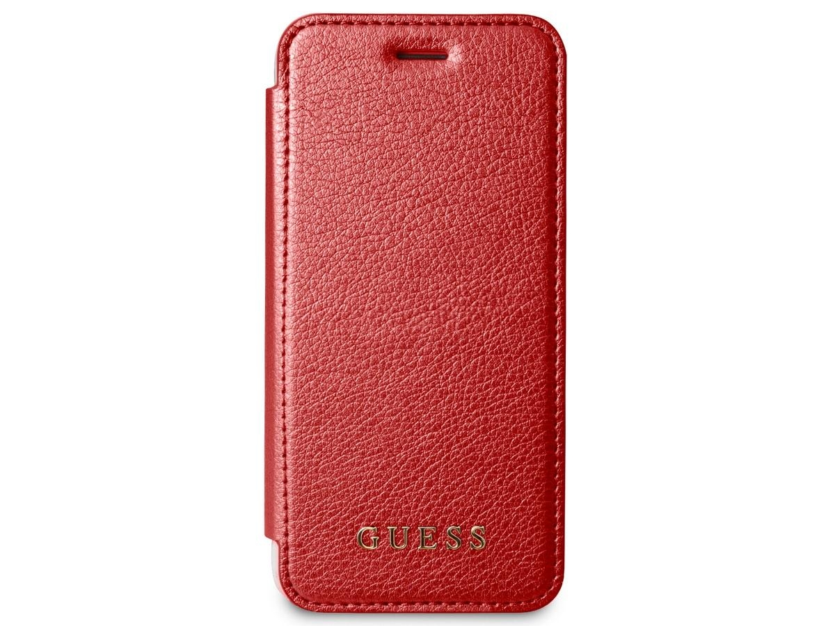 Pouzdro Guess IriDescent Book (GUFLBKPXIGLTRE) pro iPhone X - Red GUFLBKPXIGLTRE