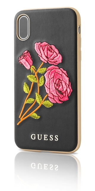 Zadní kryt Guess Flower Desire (GUHCPXEROBK) pro iPhone X GUHCPXEROBK