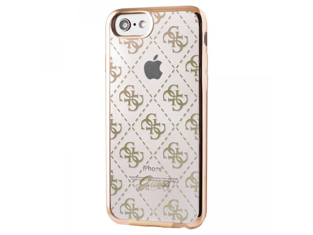 Zadní kryt Guess 4G TPU GUHCPSETR4GG pro iPhone 5/5S/SE - zlatý GUHCPSETR4GG