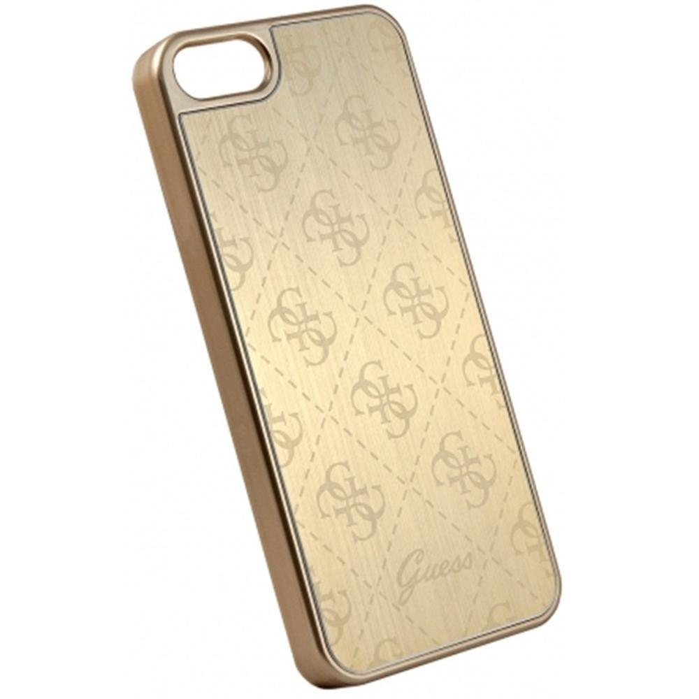 Zadní kryt Guess 4G Aluminium GUHCPSEMEGO pro iPhone 5/5S/SE - zlatý GUHCPSEMEGO