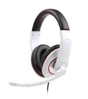 Herní sluchátka Gembird MHS-001 s mikrofonem - bílá MHS-001-GW