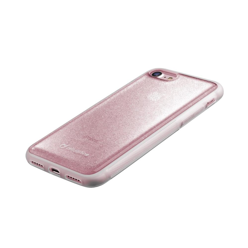 Adhezivní zadní kryt Cellularline Selfie Case pro Apple iPhone 7/8 - růžový SELFIECIPH747P
