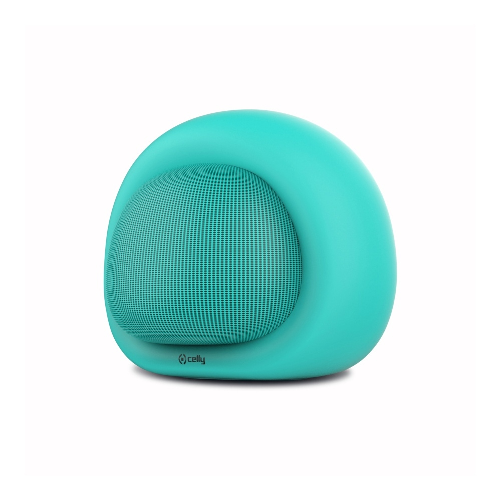 Bluetooth reproduktor CELLY Bubble Beat, tyrkysový - Modrý COLORSPEAKER02