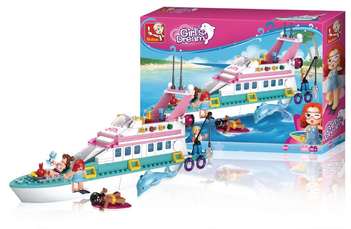 Stavebnicové kostky Sluban - Girl's Dream - Rekreační jachta