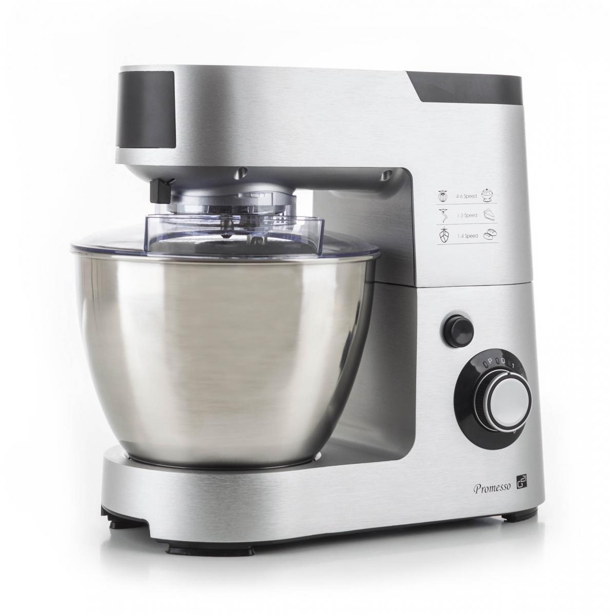 Kuchyňský robot G21 Promesso Aluminium - stříbrný