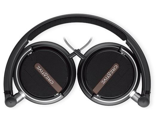 Skládací sluchátka s mikrofonem Creative Labs Headset Flex, černá 51EF0710AA000