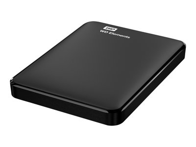 WD, HDD EXT Elements 750GB Black WorldWide WDBUZG7500ABK-WESN