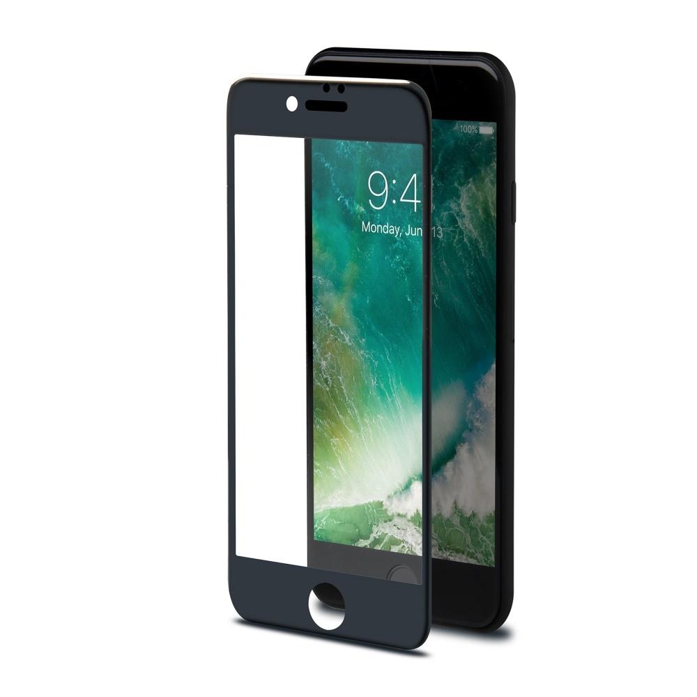 Ochranné tvrzené sklo CELLY Glass pro Apple iPhone 7/8, černé (sklo do hran displeje, anti blue-ray) 3DGLASS800BK