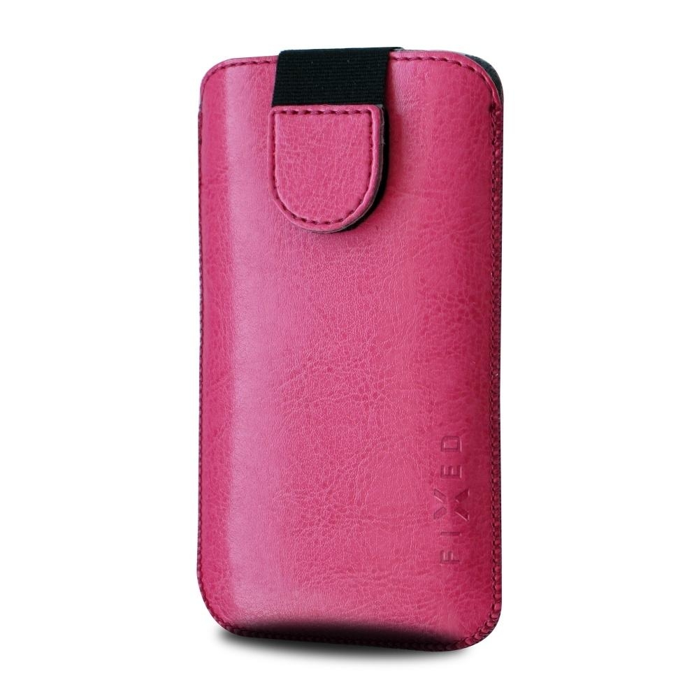 Pouzdro FIXED Soft Slim se zavíráním, PU kůže, velikost 3XL, růžové RPSOS-006-3XL