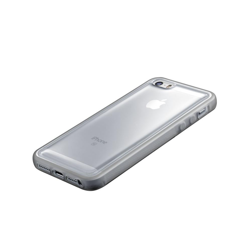 Adhezivní zadní kryt CellularLine ANTI-GRAVITY pro Apple iPhone 5/5S/SE ANTIGRAVCIPH5T