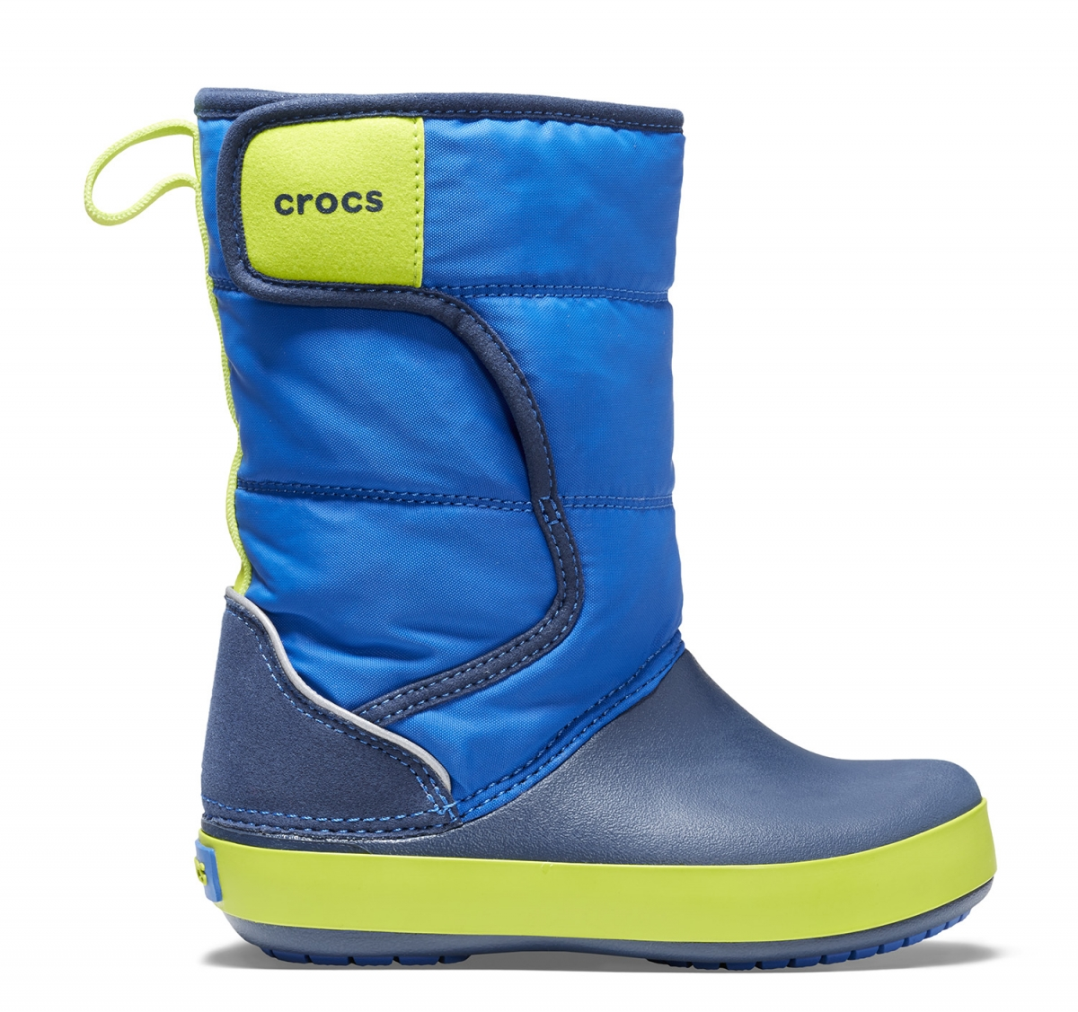 Crocs LodgePoint Snow Boot Kids - Blue Jean/Navy, J1 (32-33)