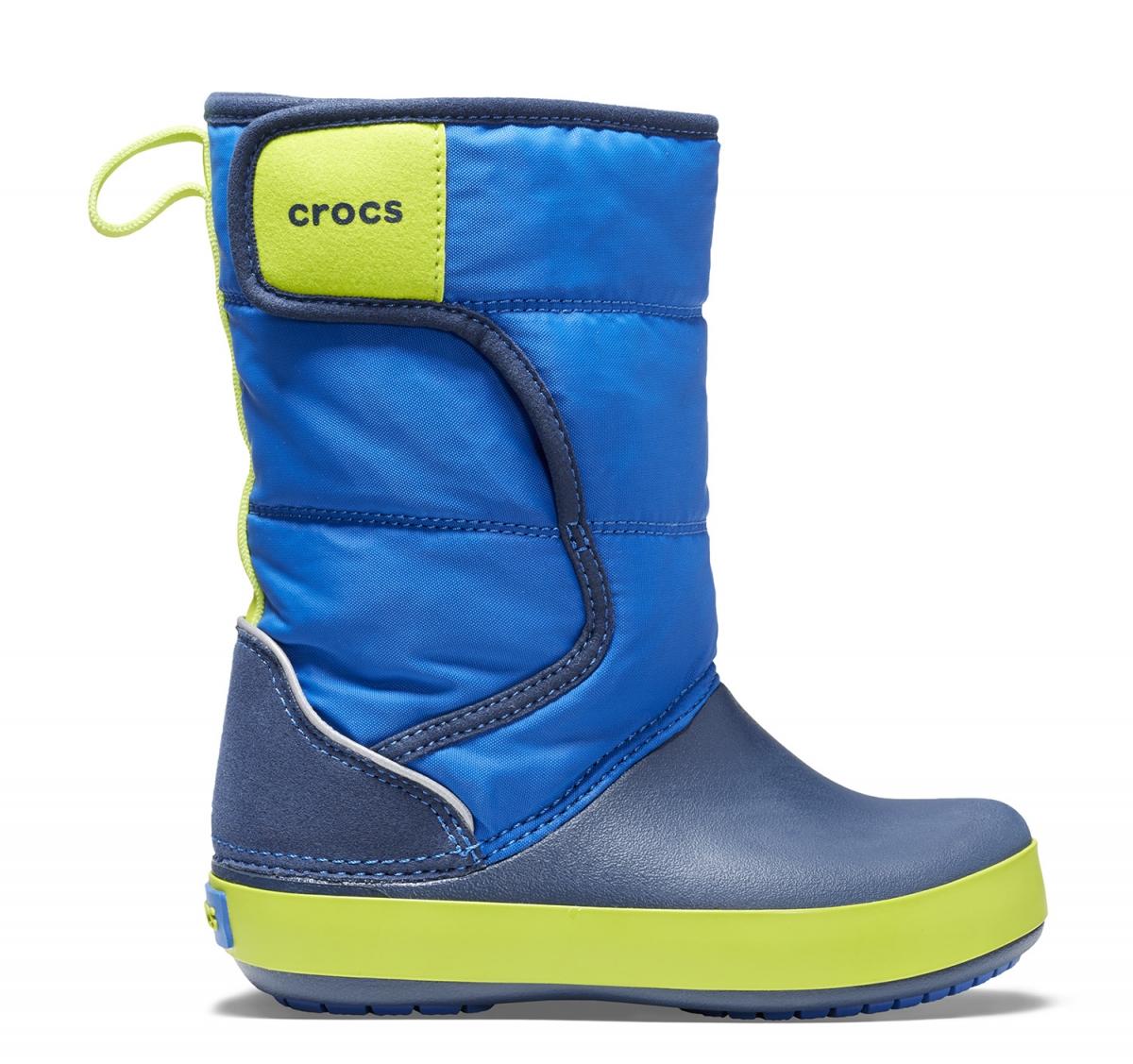 Crocs LodgePoint Snow Boot Kids - Blue Jean/Navy, J2 (33-34)