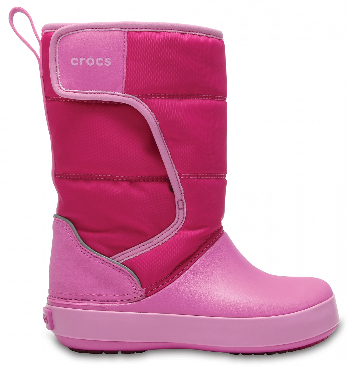 Crocs LodgePoint Snow Boot Kids - Candy Pink/Party Pink, J3 (34-35)