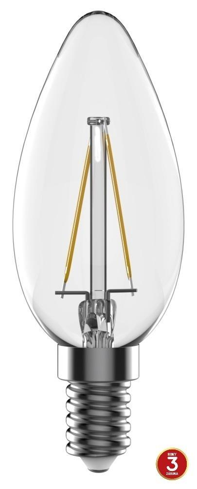 LED žárovka TESLA CRYSTAL RETRO svíčka 2,2W, E14, teplá bílá