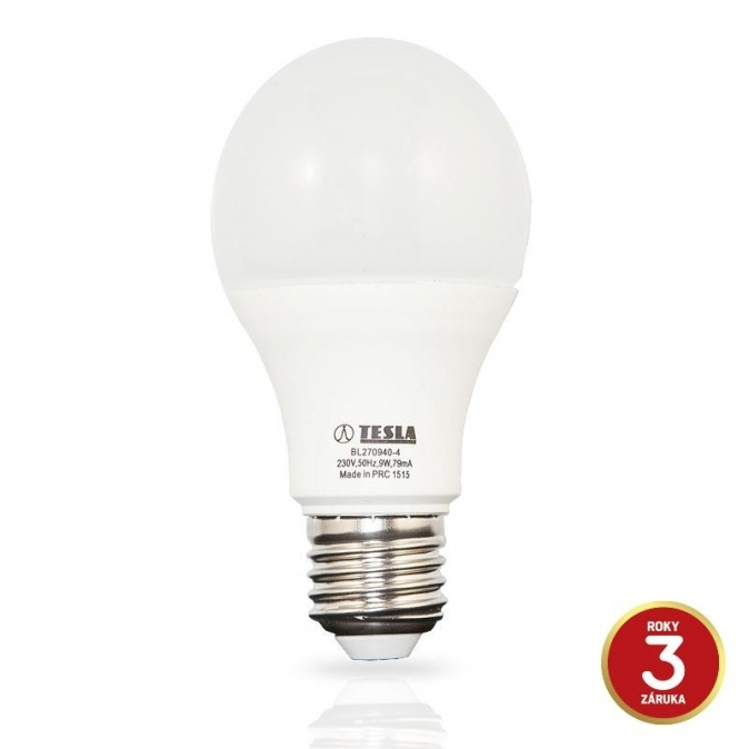 LED žárovka TESLA BULB, 9W, E27, studená bílá