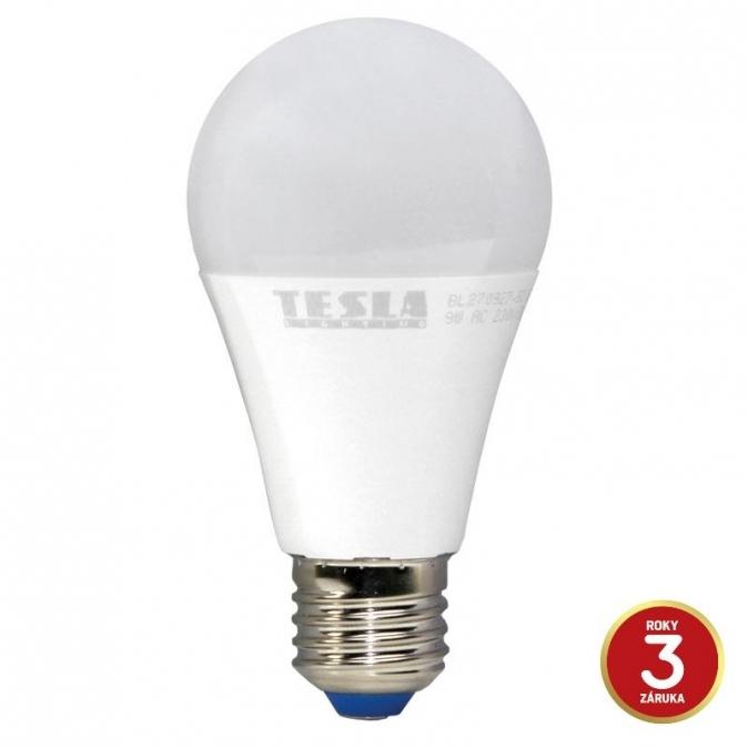 LED žárovka TESLA BULB, 9W, E27, teplá bílá