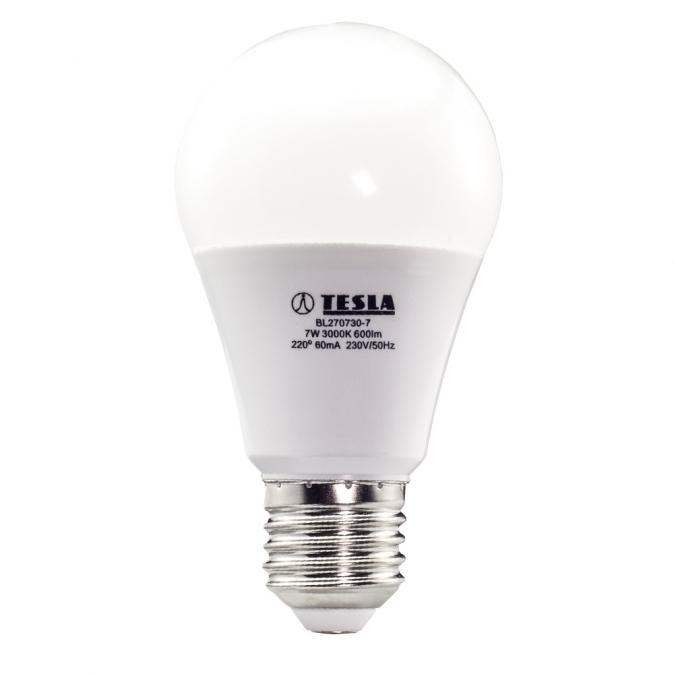 LED žárovka TESLA BULB, 7W, E27 teplá bílá