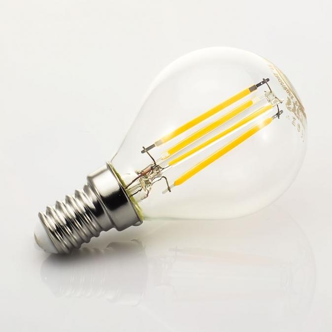 LED žárovka TESLA CRYSTAL RETRO miniglobe, 4W, E14, teplá bílá